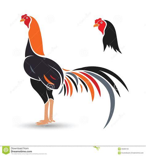 Pelea De Gallo S Vector | gallo de pelea ilustraci 243 n del vector imagen de 225 guila