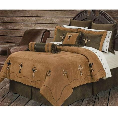 western bedspreads comforter sets cowhide cross western bedding comforter set super queen