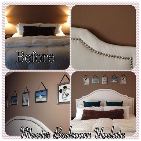 diy upholstered headboard with studs home decor