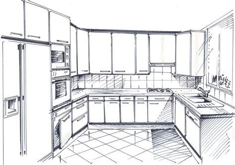 dessiner en perspective une cuisine dessiner en perspective une cuisine photos de conception