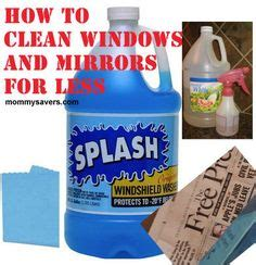 cleaning mirrors on