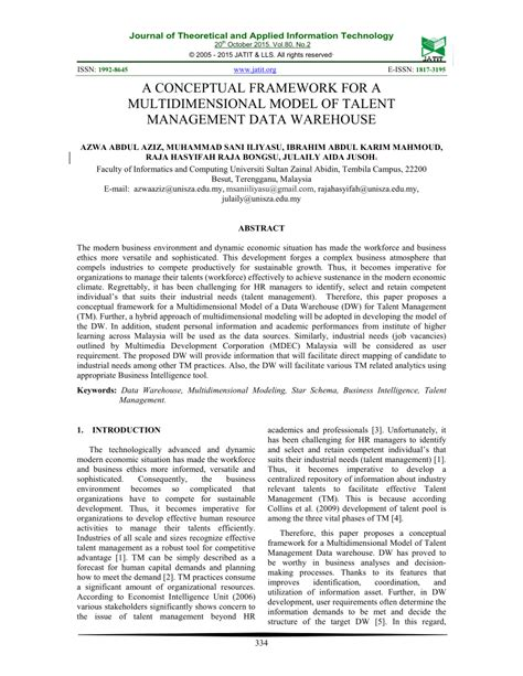 data warehouse research paper pdf a conceptual framework for a pdf available