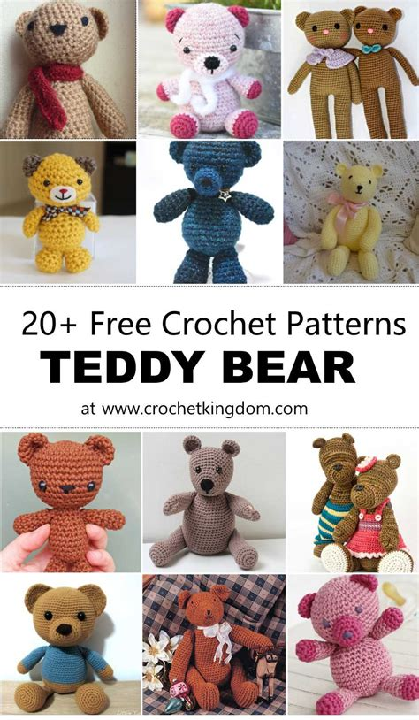 Awesome Free Knitting Patterns For Christmas Dishcloths #4: 20-Free-Crochet-Teddy-Bear-Patterns.jpg