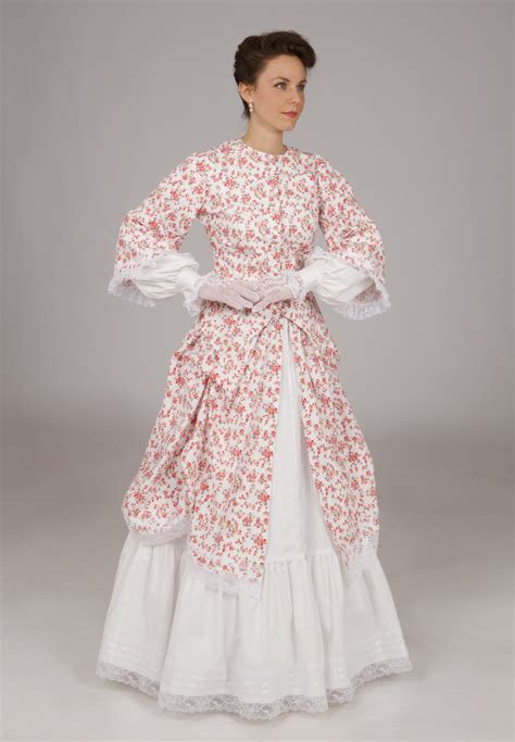 Wst 8410 Princess Print Blouse Civil War Style Set Recollections