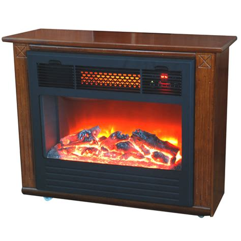 12 quot lifesmart electric oak satin fireplace from lowes