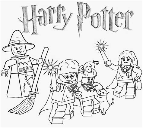 lego coloring pages harry potter movie pinterest lego