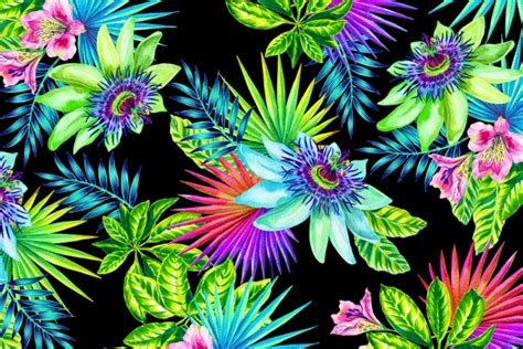watercolor tropical pattern 15 tropical flower patterns photoshop patterns