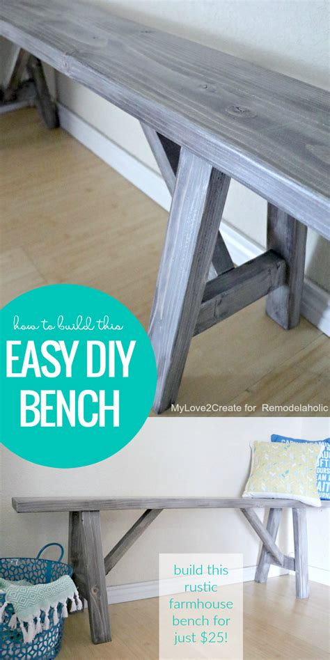 diy farmhouse bench 25 remodelaholic how to build an easy diy bench for just 25
