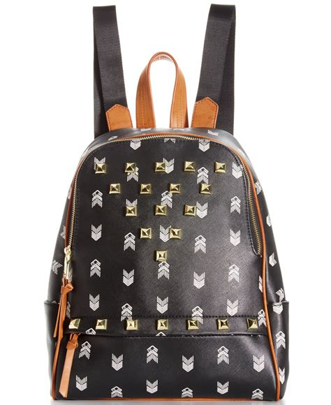 Steve Madden Backpack by Steve Madden Bscuti Print Backpack With Studs In Black Lyst