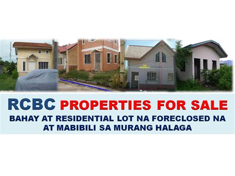 bank assets for sale rcbc bank house and residential lot above p300 000