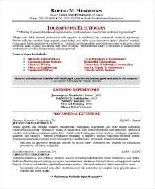 Electrical Installer Sle Resume by Sle Resume For Maintenance Engineer Electrical