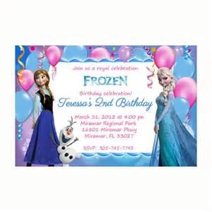 frozen birthday card template disney frozen birthday invitation templates theruntime