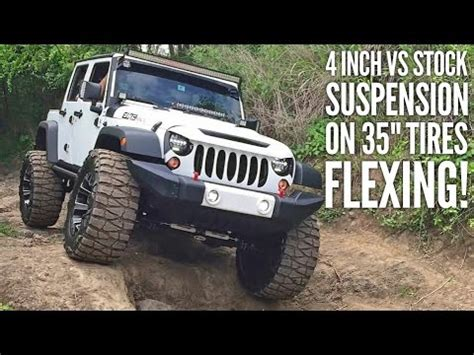 stock jeep vs lifted jeep comparison by one jeep with lift vs other