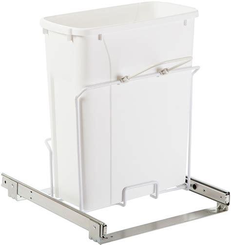 Cabinet Wastebasket by Sliding Shallow Cabinet Wastebasket In Cabinet Trash Cans