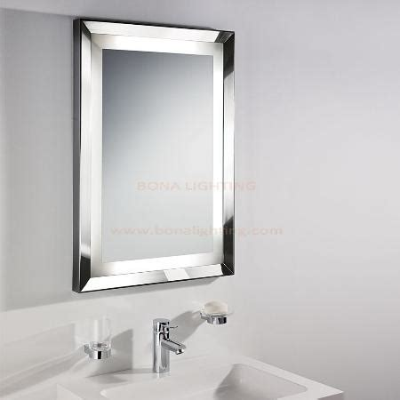 Illuminated Mirror with 304 Stainless Steel Frame in