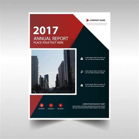 annual business report cover in abstract design vector