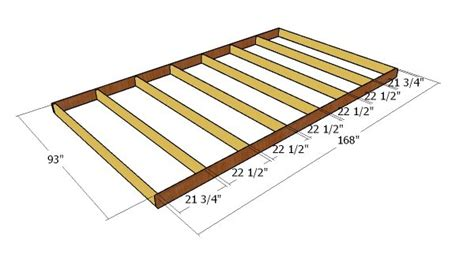 8x14 gable shed free diy plans howtospecialist how