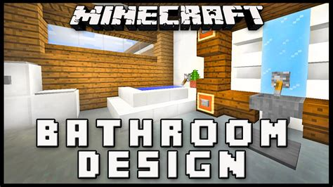 how to build a bathroom in minecraft minecraft how to make a modern bathroom design house build ep 17 youtube