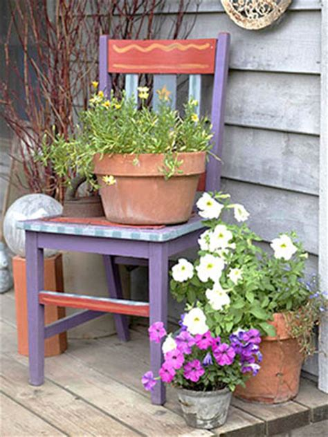 Garden Furniture Decor How To Recycle Garden Decorations Of Recycled Chairs And Benches