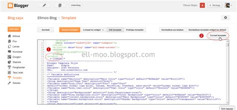 kode format html menilkan kode css pada html editor blogger template