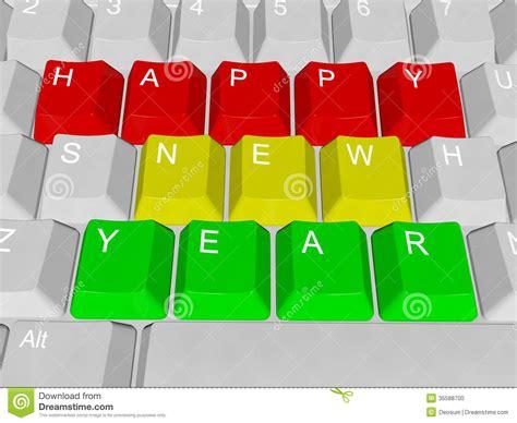 happy new year pc keys stock photo image 35588700