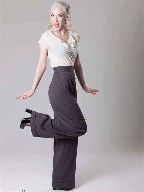swing style heyday vintage inspired 1940s style swing trousers