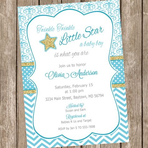 Twinkle Baby Shower Invitations by Twinkle Twinkle Baby Shower Invitations Baby