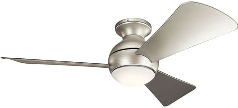 contemporary ceiling fans brushed nickel kichler 330151ni sola modern brushed nickel 44 quot indoor