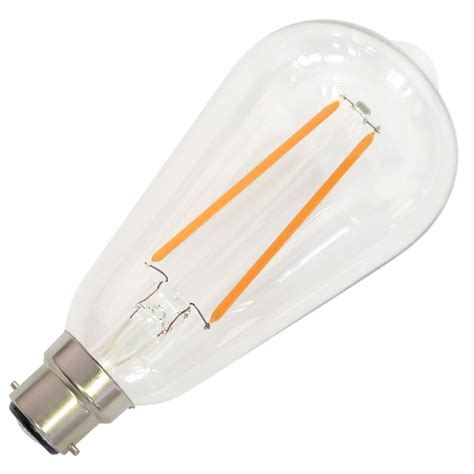 Bayonet Led Light Bulbs 4w 40w B22 Bayonet Filament Dimmable Led Bulb