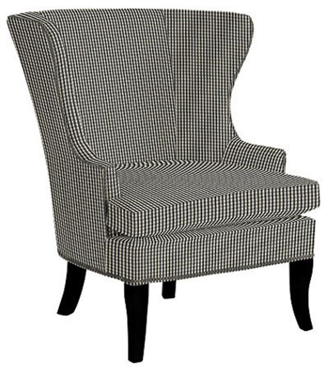 black and white check armchair thurston wing chair with pewter nailheads small check