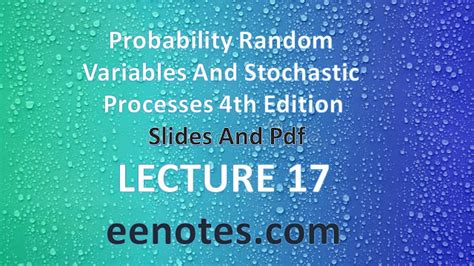 The Power Of Statistics Oleh J Supranto lecture 17 probability random variables and stochastic