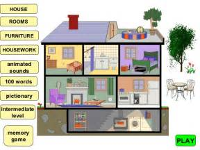 House Design Games In English Parts Of A House And Furniture