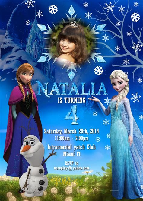frozen invitation card free template 25 best ideas about frozen invitations on