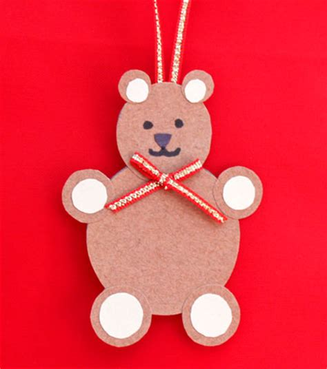 How To Make Teddy With Paper - funezcrafts paper circles teddy