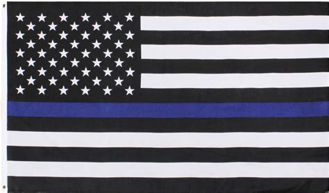 X Support Blue subdued thin blue line flag support the american