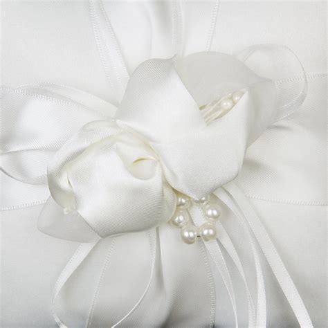 ivory satin wedding ring pillow page boy ring bearer