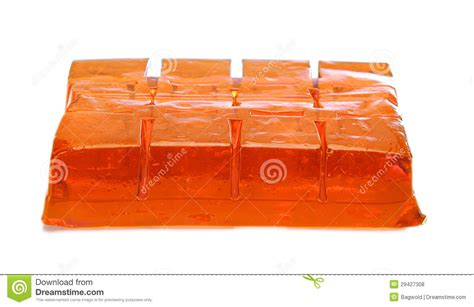 Jelly Whitening Ekstrak Orange Premium block of orange jelly cubes stock photo image 29427308