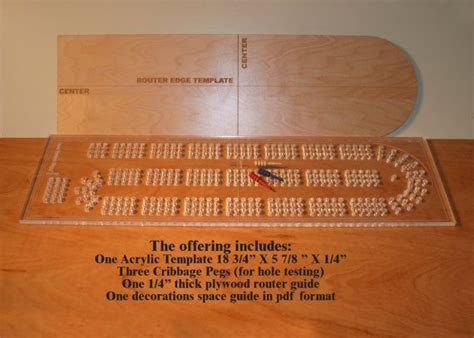cribbage board drilling templates acrylic cribbage board drilling template 1 4 by