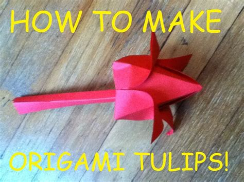 Origami With 8 5 X11 Paper - diy origami craft tutorial tulip from 8 x 11 sheet of
