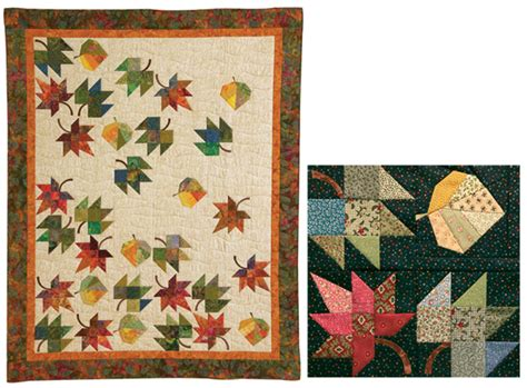 Leaf Quilt Pattern by Showy Quilts To Shrink Your Stash Stitch This The