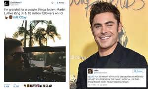 mail zachairdressing co uk loc us zac efron apologizes for tweet about martin luther king jr