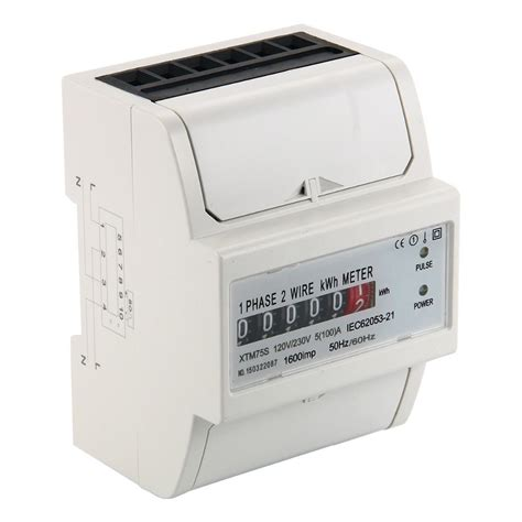 Din Rail Ac Multi Meter Volt Ere Watt Kwh Cos Phi 2 Color Panel Mcb charming single phase ammeter wiring ideas everything