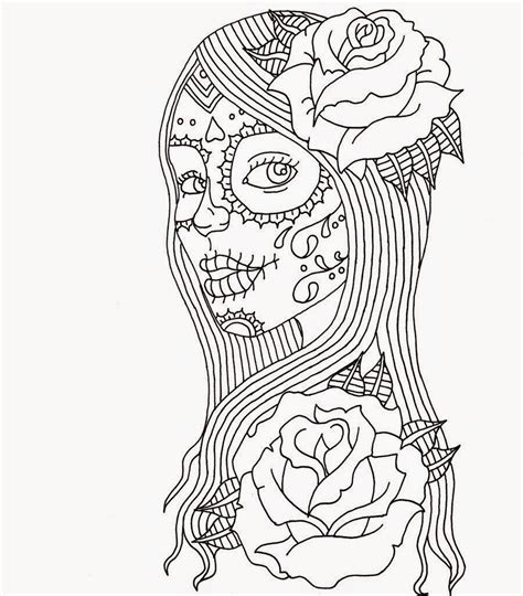 day of dead girl coloring pages day of the dead coloring