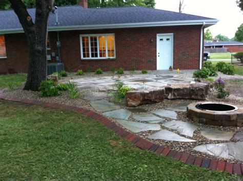 backyard pit ideas landscaping flagstone granite city il photo gallery landscaping network