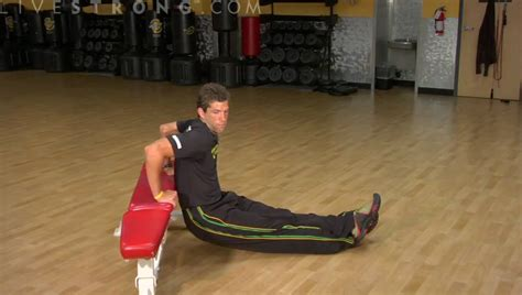 how to do a bench dip how to do bench dip exercises youtube