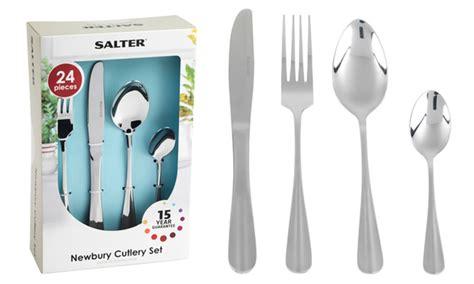 kitchen dining discount salter 24 cutlery set 25
