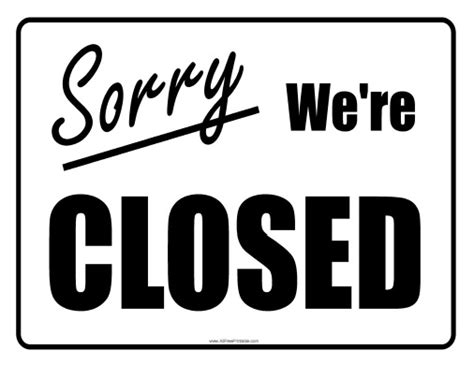 business closed sign template image gallery office closed sign template