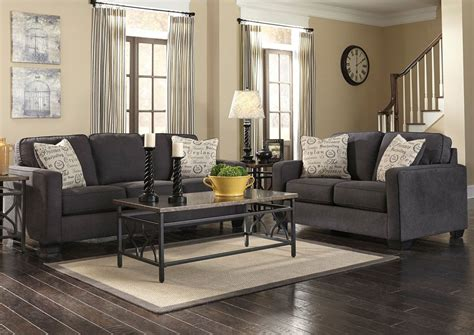 alenya charcoal sofa sleeper alenya loveseat charcoal sofa convertibles and