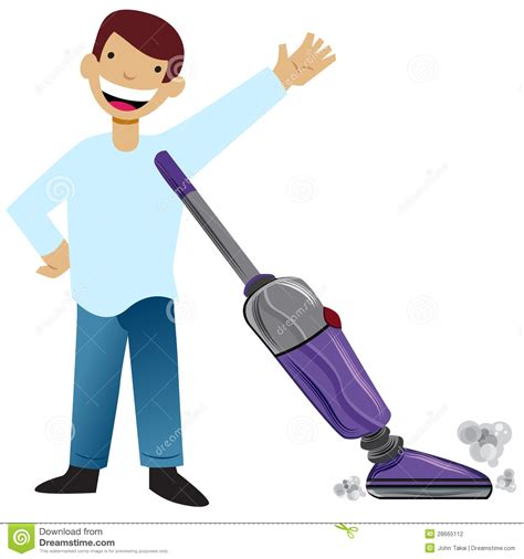 Hoovering The Floor by Kid Vacuuming Stock Vector Image Of Graphic