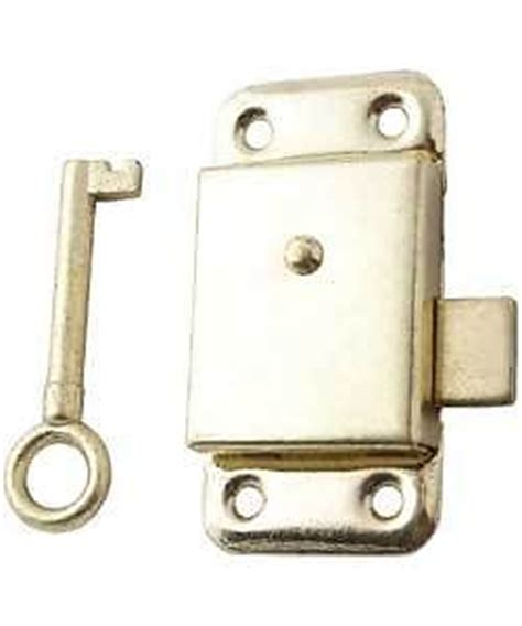brass wardrobe cupboard cabinet door lock 2 5 screws